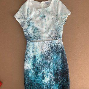 Tobi Blue and White Splatter Dress